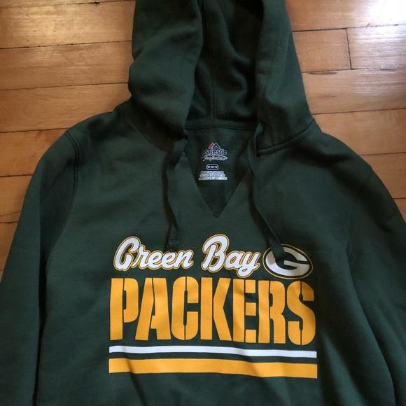 00780dc1 NWT NFL Green Bay packers women's v neck hoodie -M NWT